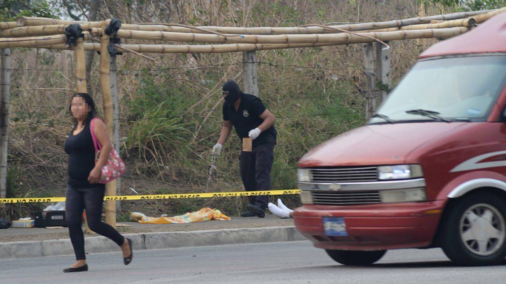 Homicidio violento redondel de Sabino