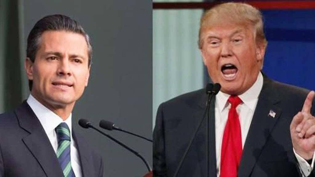 """Trump expresa """"gran respeto"""" a los mexicanos"""