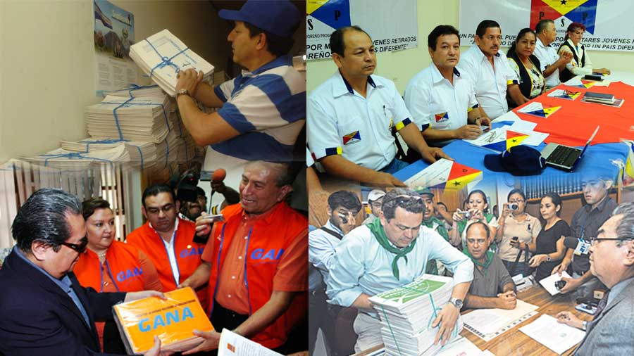 Los cinco partidos que comparten afiliados
