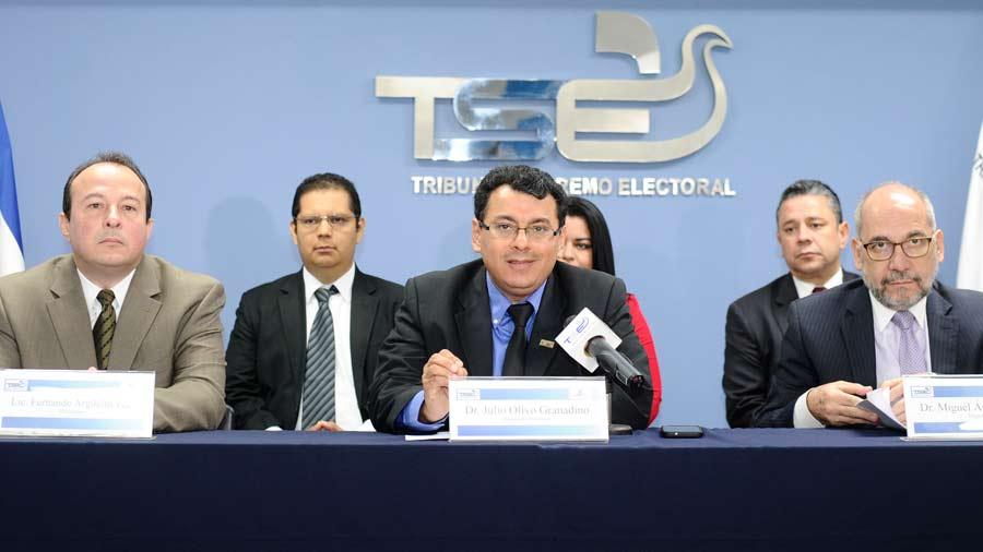 Más de 2,500 personas elegidas por el TSE firmaron para inscribir partidos