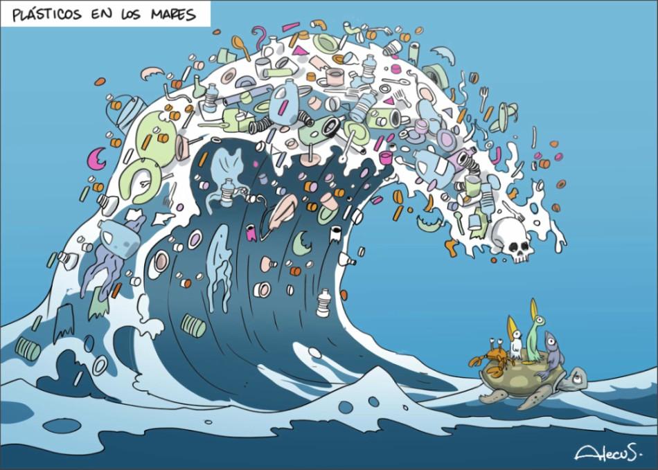 Plásticos en los mares