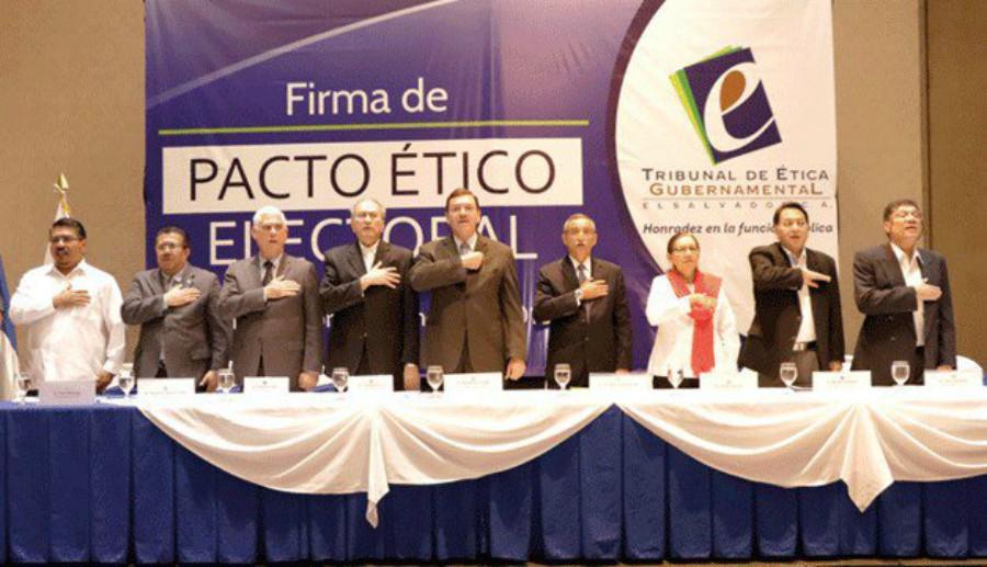 Partidos políticos firman pacto para realizar campaña con ética para elecciones 2018