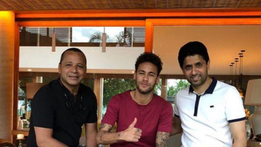 El presidente del PSG visitó a Neymar en Brasil