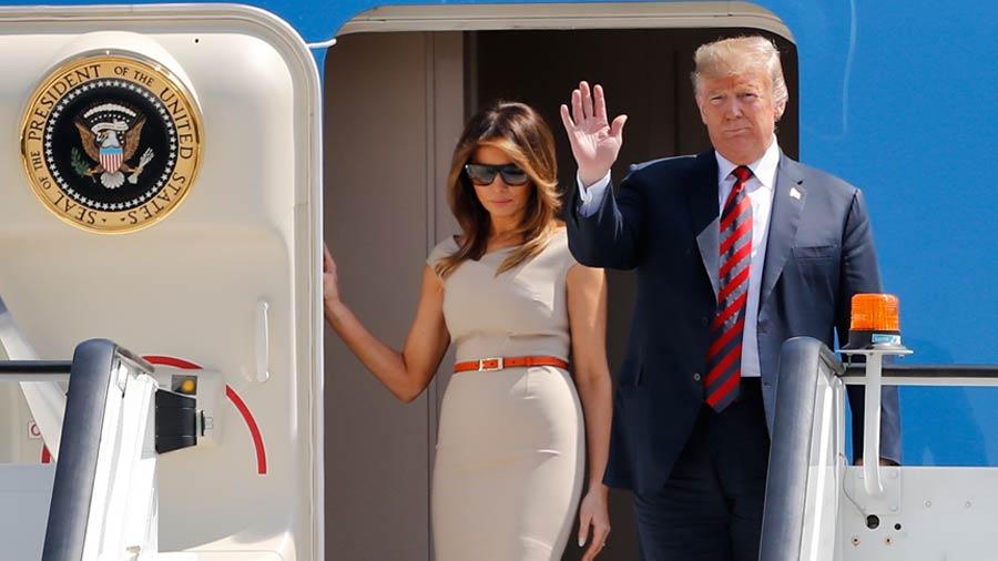 Trump llega a Londres para iniciar su visita oficial