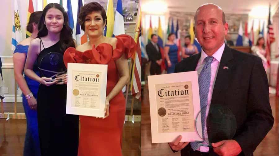 Javier Simán y Karla Hernández condecorados en Estados Unidos