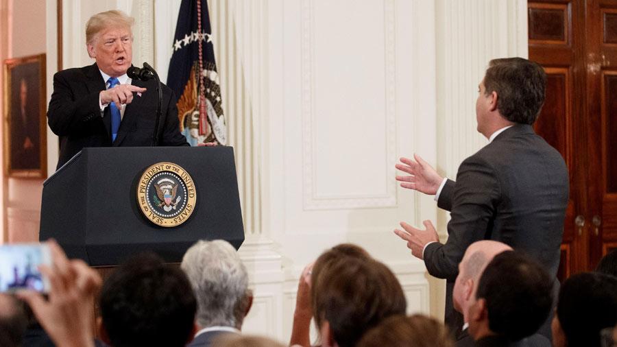 """Trump a periodista de la CNN: """"Eres maleducado y terrible"""""""