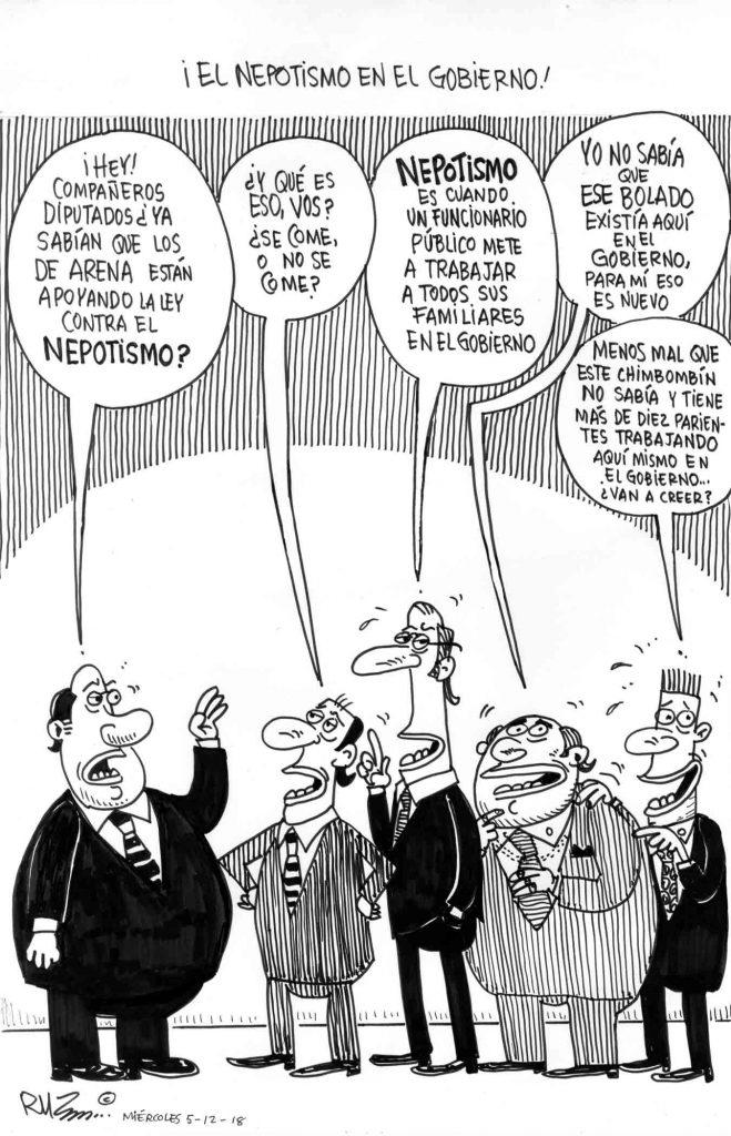 ¡El nepotismo en el Gobierno!