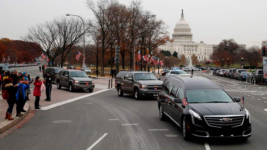 Washington se despide de Bush con un emotivo funeral de Estado