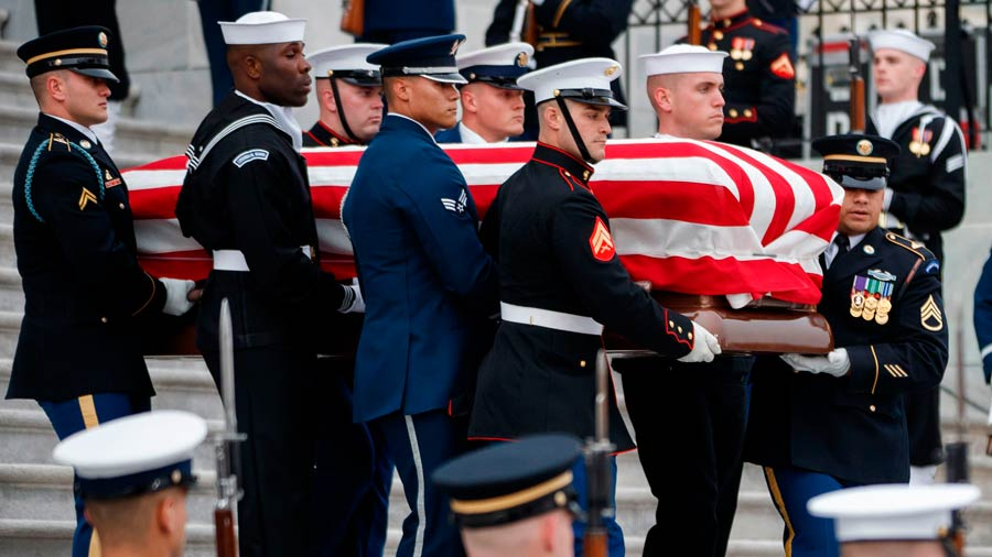 FOTOS: Comienza el funeral de Estado de George H. W. Bush en Washington