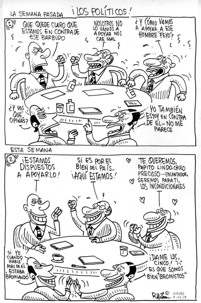 ¡Los políticos!