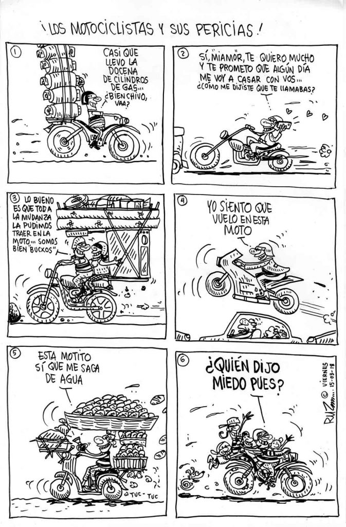 ¡Los motociclistas y sus pericias!