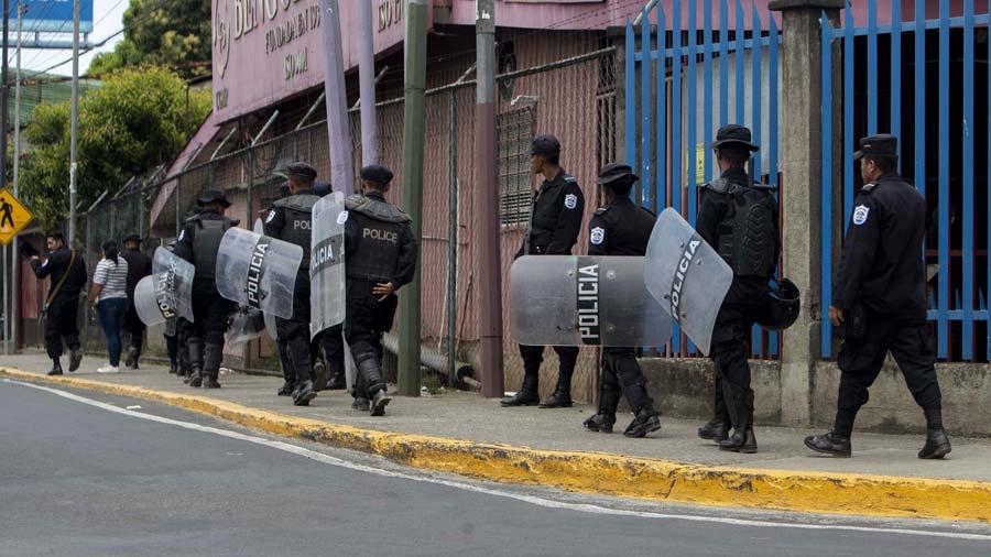 Reportan 35 detenidos, entre ellos un periodista, en protesta en Nicaragua